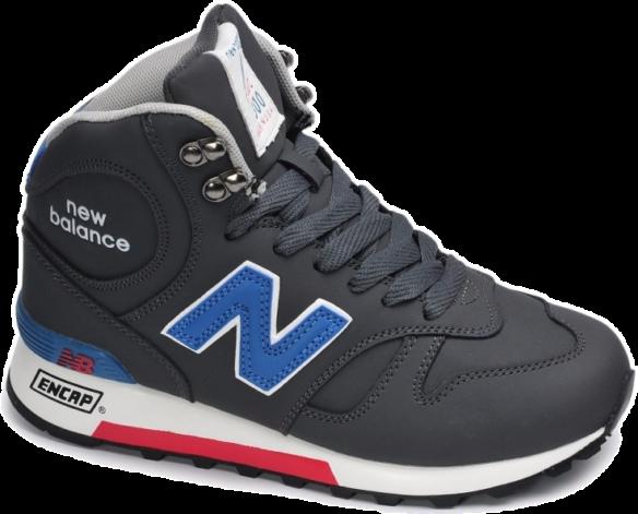New Balance 1300 Зимние черные с синим