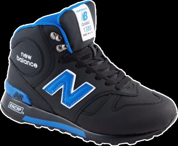 New Balance 1300 Черные с натуральным мехом