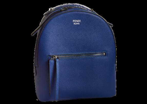 Фото синий кожаный рюкзак - 1