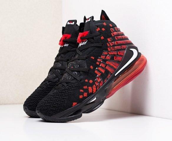 Nike Lebron XVII черные с красным