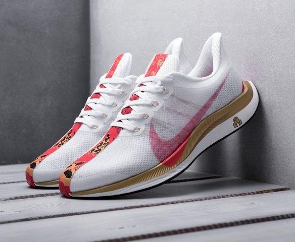 Nike Zoom Pegasus 35 Turbo белые с красным