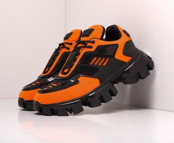 Prada Cloudbust Thunder черно-оранжевые