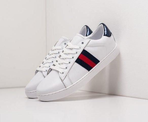 Gucci Stripe Leather white
