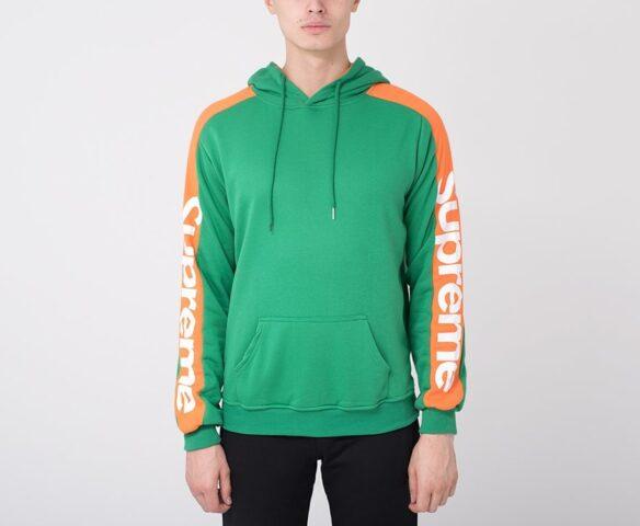 Худи Supreme зеленый