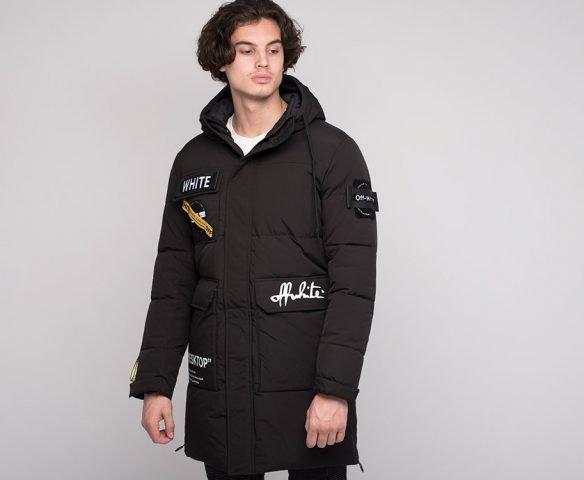 Черная зимняя куртка OFF-WHITE