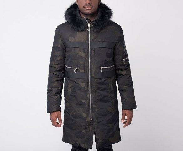Куртка зимняя OFF-WHITE камуфляж