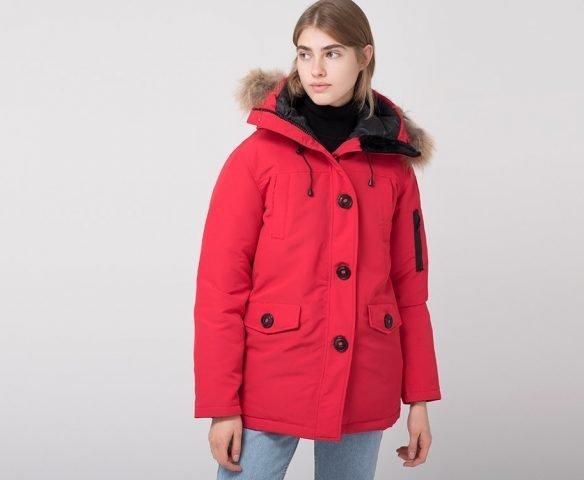 Парка зимняя Canada Goose красная