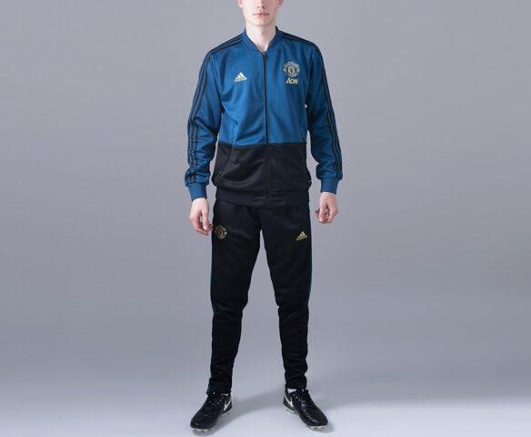 Спортивный костюм Adidas FC Manchester United синий