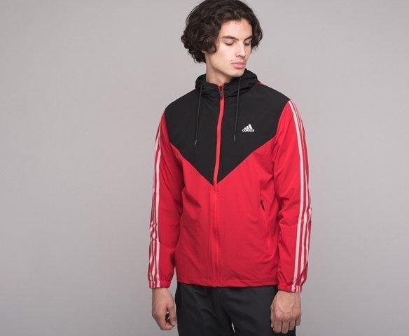 Ветровка Adidas черно-красная