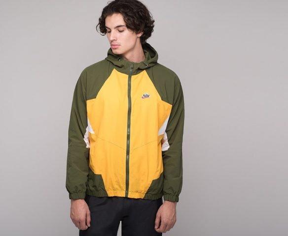 Ветровка Nike желто-зеленая
