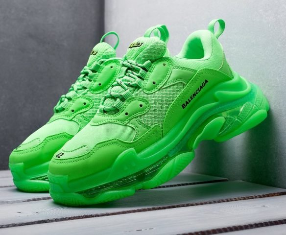 Balenciaga Triple S Сlear Sole зеленые
