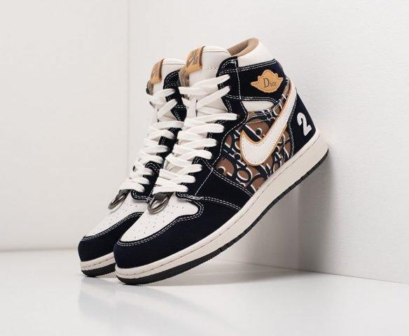 Dior x Nike Air Jordan 1 черные (black)