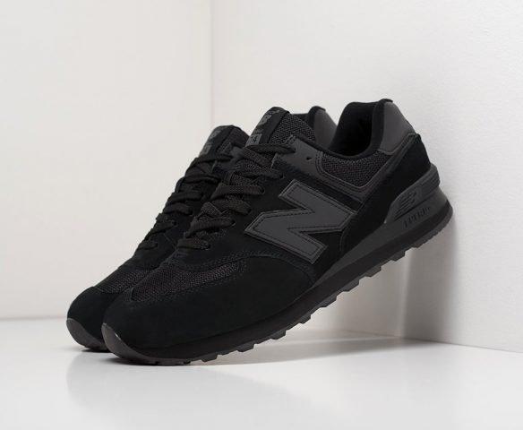 New Balance 574 замша черные