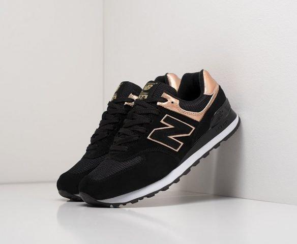 New Balance 574 черные wmn