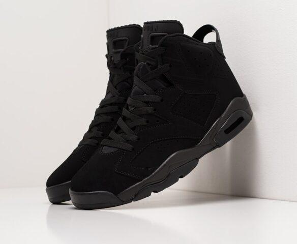 Nike Air Jordan 6 черные man