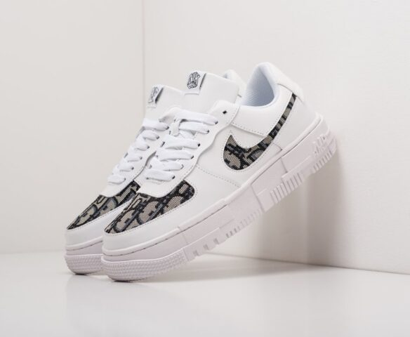 Nike x Dior Air Force 1 Pixel Low белые