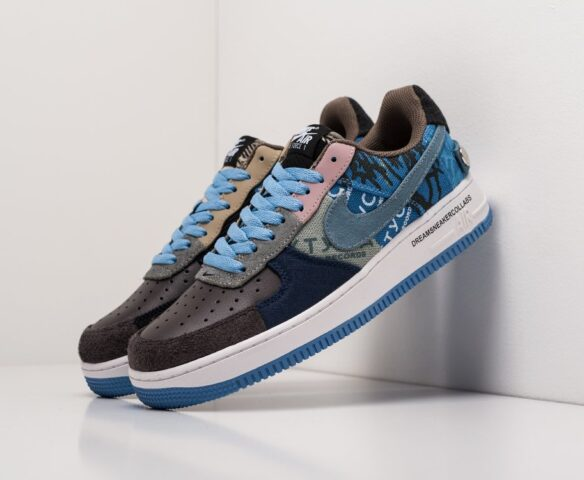 Nike x Travis Scott Air Force 1 Low синие